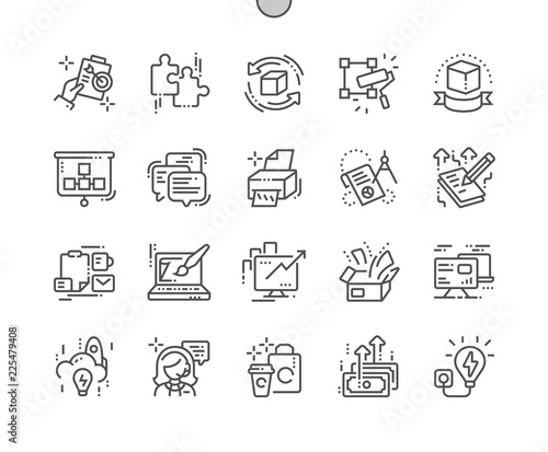 Photo Branding Well-crafted Pixel Perfect Vector Thin Line Icons 30 2x Grid for Web Graphics and Apps