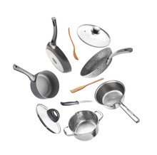 Set Of Utensils Isolated On Wh...