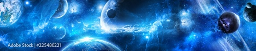 планеты в космосе среди звезд и туманностей