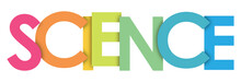 SCIENCE Rainbow Letters Banner