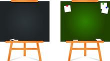 Set Of Flat Design Blackboard ...
