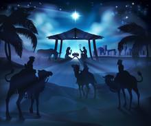 Christmas Nativity Scene, Baby...
