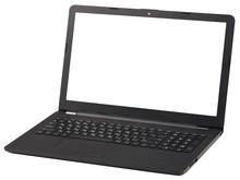 Black Laptop Isolated On White Background.