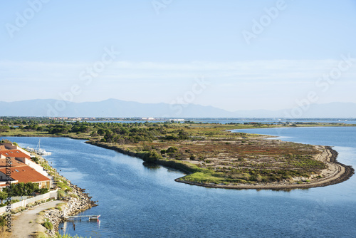 Foto op Plexiglas Europese Plekken Etang de Leucate lagoon, in Leucate, France