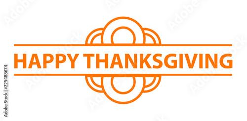 Happy thanksgiving logo Tablou Canvas