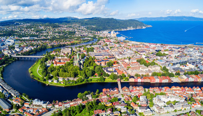 Trondheim aerial panoramic view
