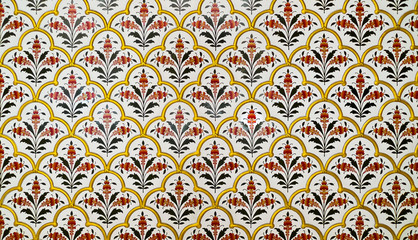 Fototapeta Panorama Decoration pattern in Junagarh Fort