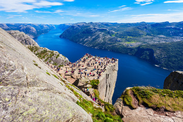 Preikestolen or Pulpit Rock