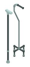 Walking Medical Sticks Icon. Isometric Of Walking Medical Sticks Vector Icon For Web Design Isolated On White Background
