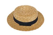 Summer Beige Straw Hat Isolate...