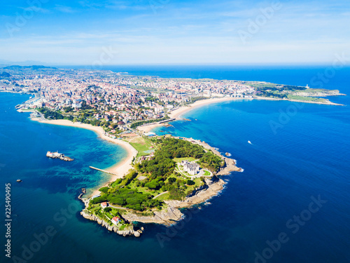 Santander city aerial view, Spain Canvas Print