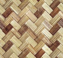 Pattern Of Bark Basket. Style Braided Pattern.