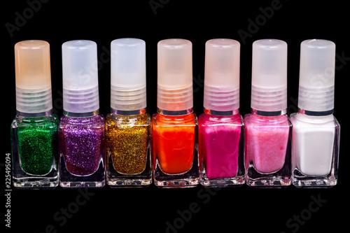 Nail polish with gloss Canvas Print