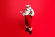 canvas print picture - Full length body size of cheerful positive optimistic glad Santa