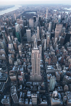 Aerial View Of New York City Scape