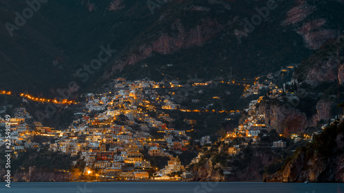Poster South America Country Positano by night
