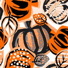 Thanksgiving Pumpkin Seamless ...
