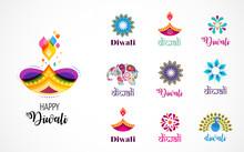 Happy Diwali Hindu Festival Ic...