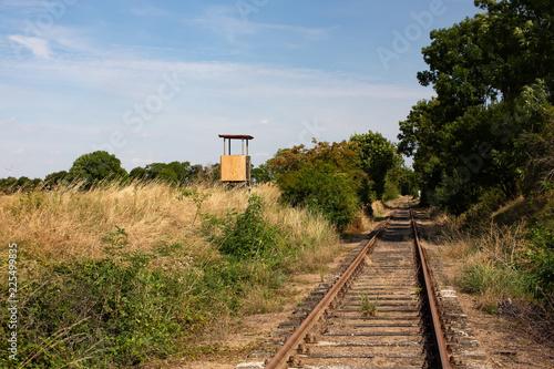 Tuinposter Spoorlijn Gramzow