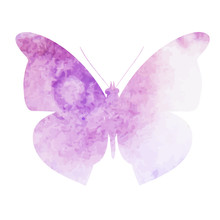 Purple Watercolor Butterfly