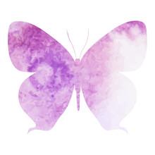 Purple Watercolor Butterfly