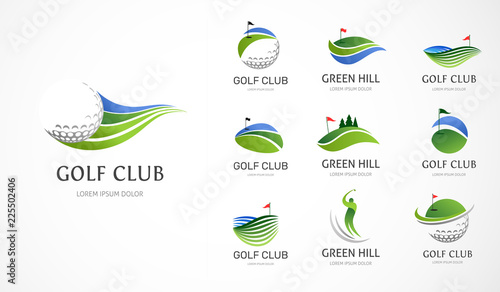 Obraz na plátne Golf club icons, symbols, elements and logo collection