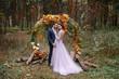 canvas print picture - Evening wedding ceremony.
