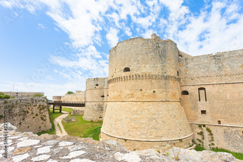 Spoed Foto op Canvas Zuid-Amerika land Otranto, Apulia - A historical defense tower as part of the city wall of Otranto in Italy