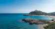 Beautiful sea and bay on Su Portu beach, Chia, Sardinia island, Italy