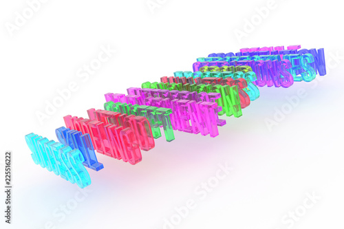 Staande foto Positive Typography Success, business conceptual colorful 3D words. Caption, typography, positive & abstract.