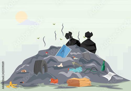 Photo Garbage pile