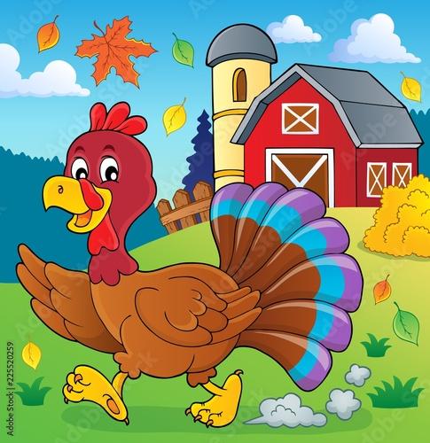 Door stickers For Kids Running turkey bird theme image 2