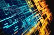 canvas print picture - Complex Futuristic Information Data