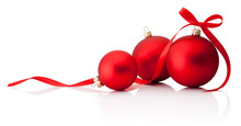 Three Red Christmas Decoration...