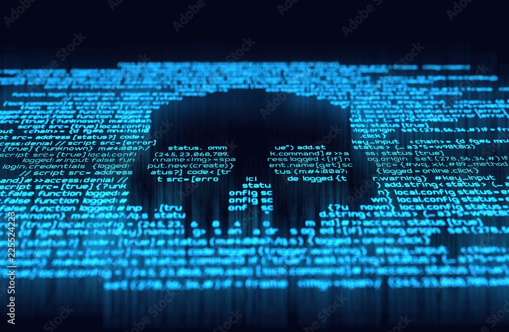 Fototapeta Digital Hacking and Online Crime
