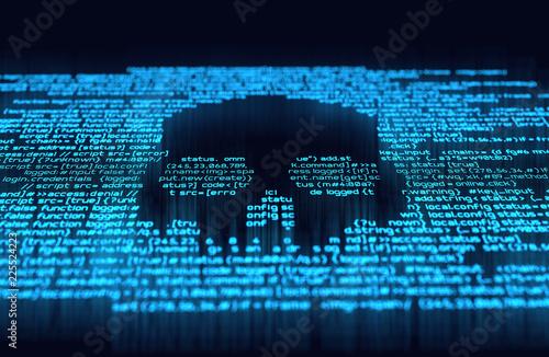 Fotomural  Digital Hacking and Online Crime