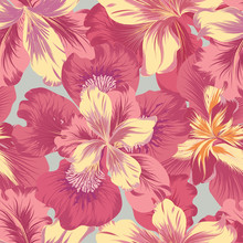 Floral Seamless Pattern.  Flow...