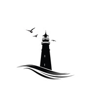 Lighthouse Logo. Nautical Icon...