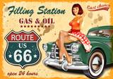 Plakat retro stacji paliw