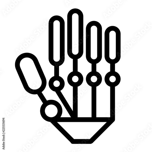 Mechanical hand line icon  Modern robot hand vector