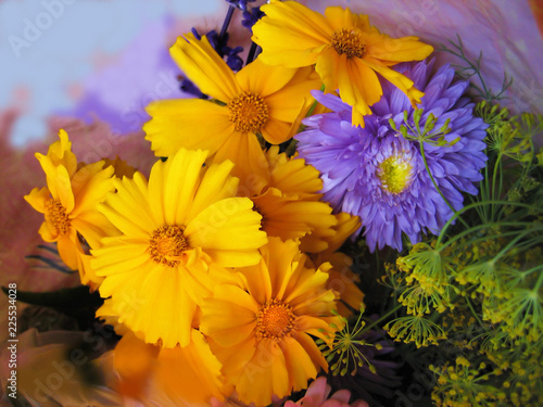 Fototapety, obrazy: Bouquet from beautiful flowers
