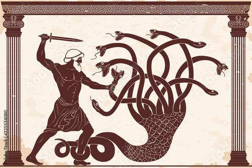Fényképezés  Hercules kills the Lyrna Hydra