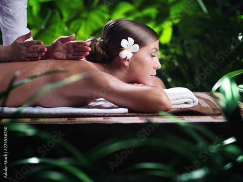 Fotografie, Obraz  portrait of young beautiful woman in spa environment.