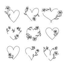 Vector Of Hand Drawn Heart And...
