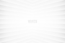 White Clear Blank Subtle Geometric Vector Abstract Background. Light Empty Nobody Room Corner Surface. 3D Conceptual Sci-Fi Illustration. Minimalism Style Wallpaper