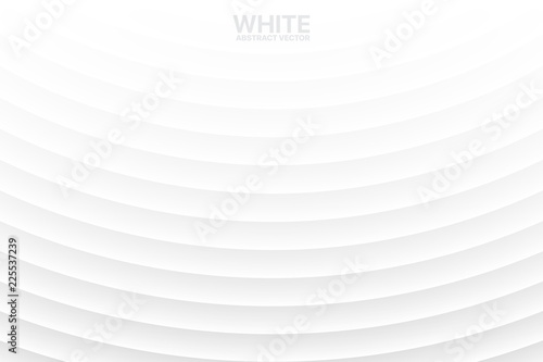 Fotomural Clear Blank White Subtle Geometrical Vector Abstract Background