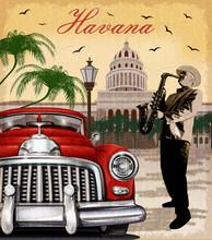 Havana Retro Poster.