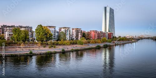 Spoed Foto op Canvas Stad gebouw Europäische Zentralbank in Frankfurt am Main, Deutschland