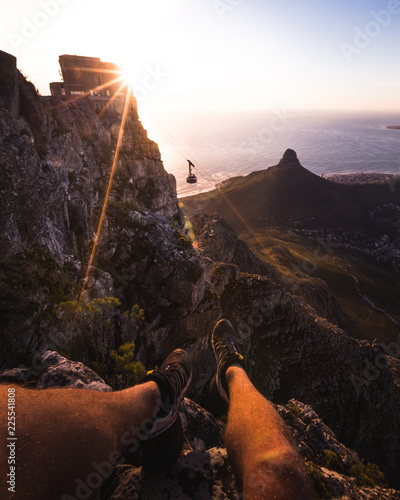 Foto op Aluminium Chocoladebruin Table Mountain Cape Town
