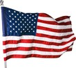 American Flag, Isolated on Transparent Background